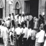 People waiting to vote for Opinion Poll
